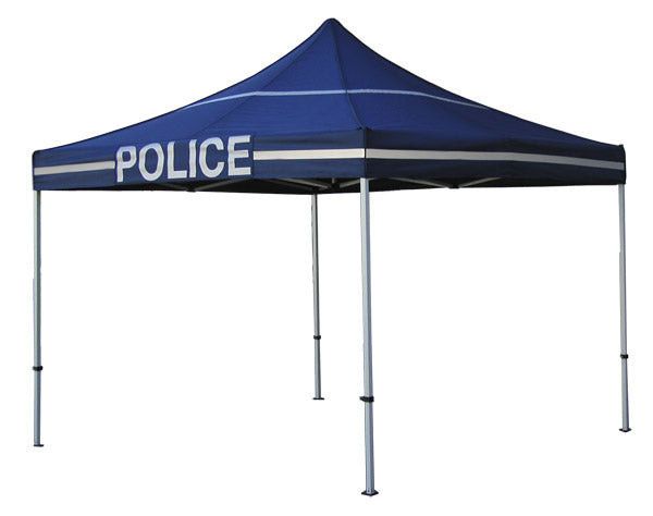 POLICE Canopy Kit - 10x10 Pop Up Canopy Tent with Roller Bag - DS Frame