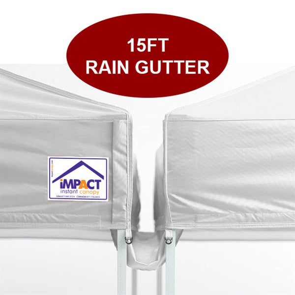 15' Pop Up Canopy Rain Gutter - Impact Canopies USA