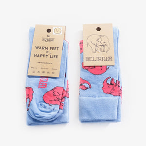 Happy Delirium Socks - BLUE (only web)