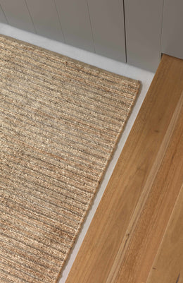 Armadillo River Echo Stripe Natural/Pewter Rug