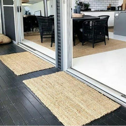 Natural Stripe Jute Rug, Runners and Mats