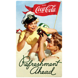 Coca-Cola Refreshment Ahead Decal