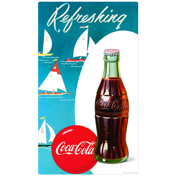 Coca-Cola Refreshing Sailboats Decal