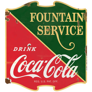 Coca-Cola 1930s Fountain Service Decal