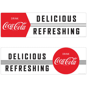 Coca-Cola 1950s Delicious Refreshing Decal Set