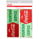 Coca-Cola Fountain Service Decal Set Distressed