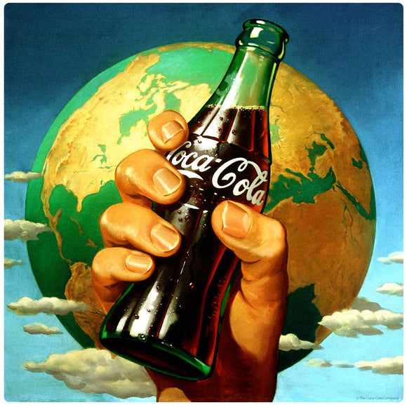 Coca-Cola Hand Holding Bottle Decal