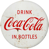Drink Coca-Cola in Bottles Disc Decal White Distressed
