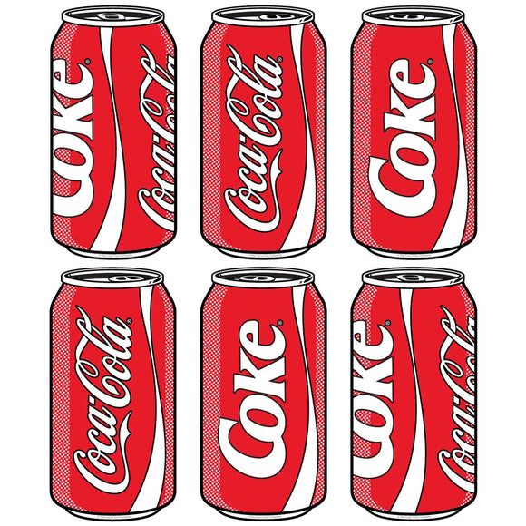 Coca-Cola Pop Art Cans Decal Set