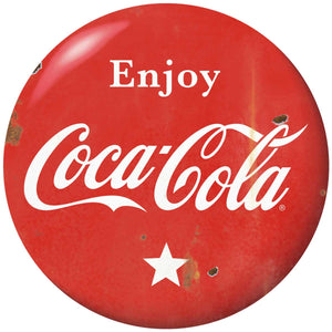 Enjoy Coca-Cola Star Disc Decal Distressed