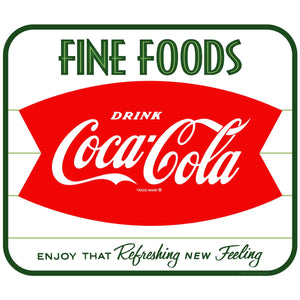 Coca-Cola Fine Foods Fishtail Decal