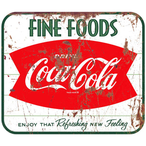 Coca-Cola Fine Foods Fishtail Decal Distressed