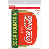 Coca-Cola Deco Soda Fountain Decal Distressed