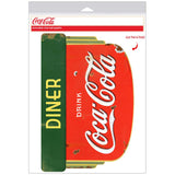 Coca-Cola Deco Diner Decal Distressed