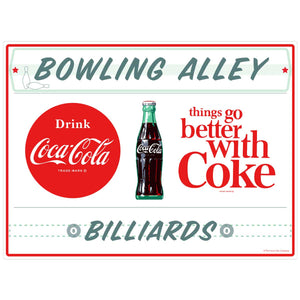 Coca-Cola Bowling Alley & Billiards TGBWC Decal
