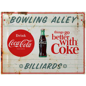 Coca-Cola Bowling Alley & Billiards TGBWC Decal Distressed