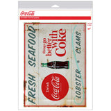 Coca-Cola Fresh Seafood TGBWC Decal Distressed