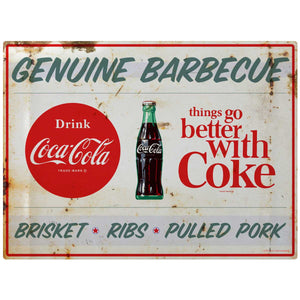 Coca-Cola Genuine BBQ TGBWC Decal Distressed