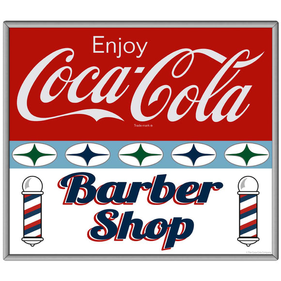 Coca-Cola Barber Shop Stars Decal