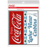 Coca-Cola Lake View Cabins Stars Decal