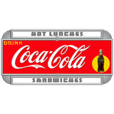 Coca-Cola Hot Lunches Deco Style Decal