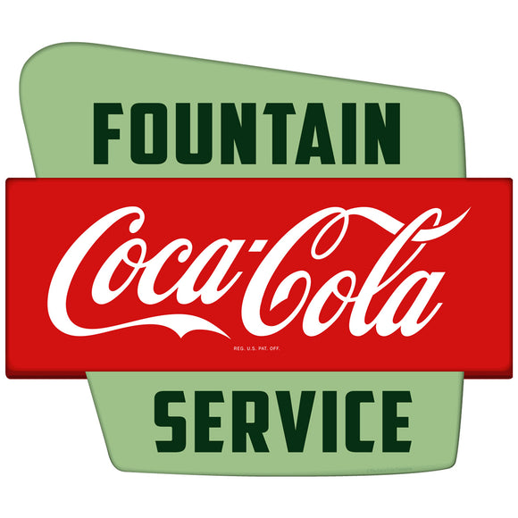 Coca-Cola Fountain Service Googie Decal