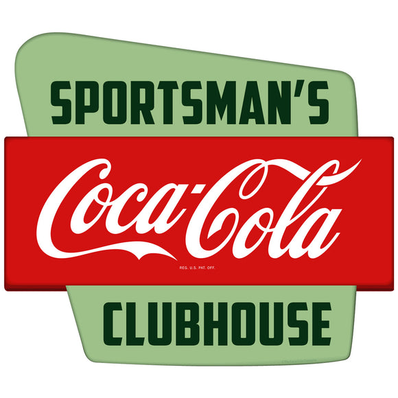 Coca-Cola Sportsmans Clubhouse Googie Decal