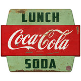 Coca-Cola Lunch Soda Googie Hexagon Decal Distressed