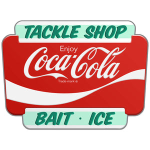 Coca-Cola Tackle Shop Marquee Decal