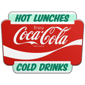 Coca-Cola Hot Lunches Cold Drinks Marquee Decal