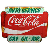 Coca-Cola Auto Service Marquee Decal Distressed