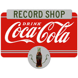 Drink Coca-Cola Record Shop Decal