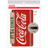Drink Coca-Cola Rt 66 Diner Decal Distressed