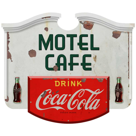 Coca-Cola Motel Cafe Colonial Decal Distressed