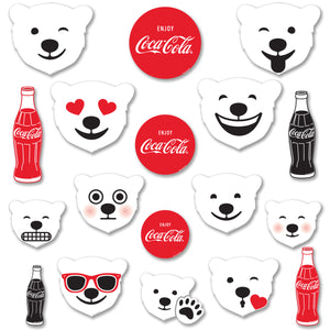 Coca-Cola Emoji Polar Bears & Bottles Decal Set