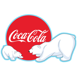 Coca-Cola Polar Bears Red Disc Decal