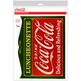 Coca-Cola Luncheonette Antique Deco Decal