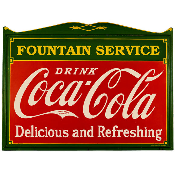 Coca-Cola Fountain Service Antique Deco Decal