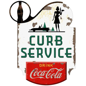 Coca-Cola Curb Service Decal Distressed