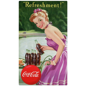 Refreshment Coca-Cola Girl Decal