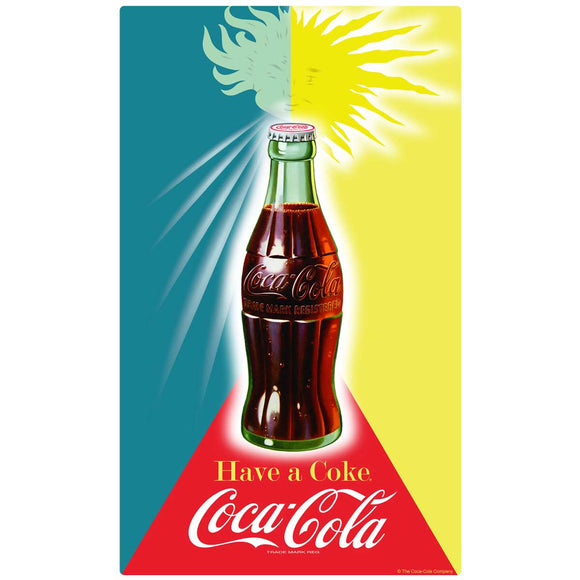 Coca-Cola Bottle Sunshine Decal