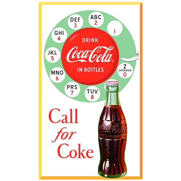 Coca-Cola Bottle Call For Coke Decal