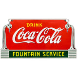 Coca-Cola Deco Fountain Service Decal Clean