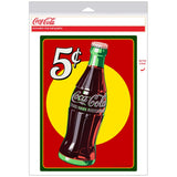 Coca-Cola 5 Cents Bottle Decal
