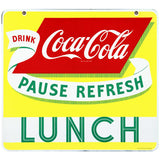 Coca-Cola Pause Refresh Lunch Decal Clean