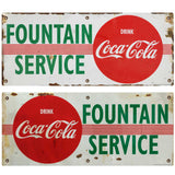 Coca-Cola Disc Fountain Service Decal Set