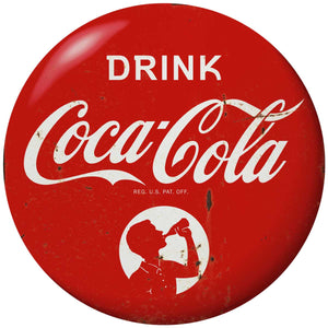 Drink Coca-Cola Boy Disc Decal Distressed