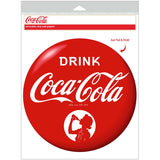 Drink Coca-Cola Girl Disc Decal