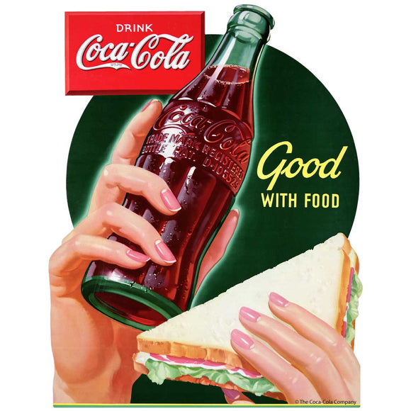 Coca-Cola Good With Food Sticker