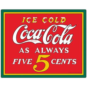 Coca-Cola Ice Cold 5 Cents Sticker